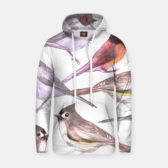 Miniatur Wild titmouses bushtits and juncos in watercolor Hoodie, Live Heroes