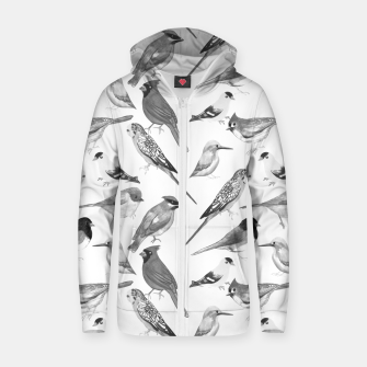 Thumbnail image of Black and white birds  Zip up hoodie, Live Heroes