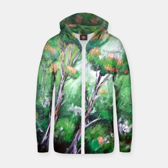 Thumbnail image of Moment in the forest Zip up hoodie, Live Heroes