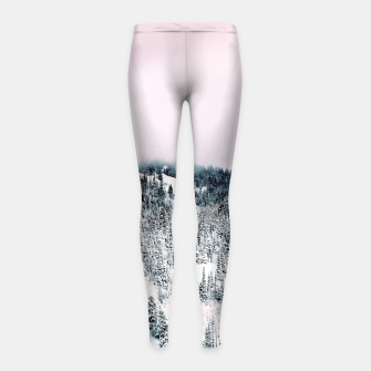 Thumbnail image of Snow Season Girl's leggings, Live Heroes