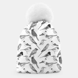Thumbnail image of Black and white birds  Beanie, Live Heroes