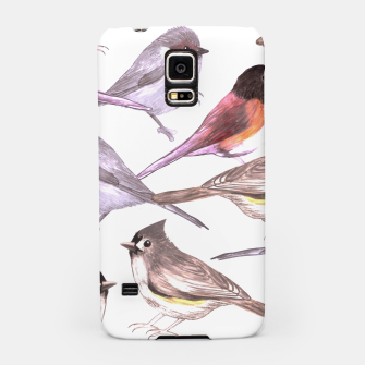 Miniatur Wild titmouses bushtits and juncos in watercolor Samsung Case, Live Heroes
