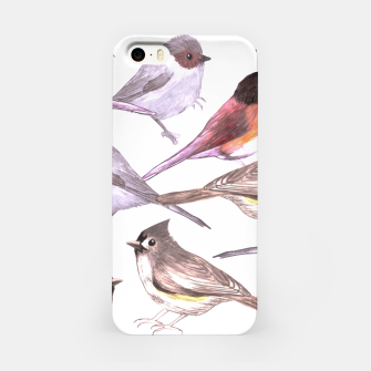 Miniatur Wild titmouses bushtits and juncos in watercolor iPhone Case, Live Heroes
