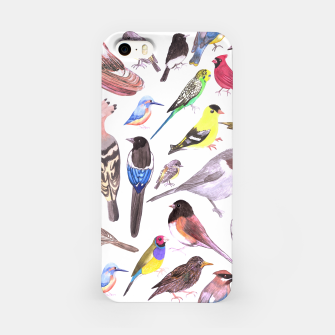 Miniatur Birds of America- pets and wild birds  iPhone Case, Live Heroes
