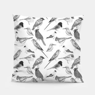 Thumbnail image of Black and white birds  Pillow, Live Heroes