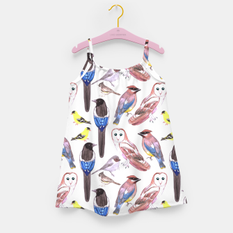 Thumbnail image of Wild birds watercolor  Girl's dress, Live Heroes