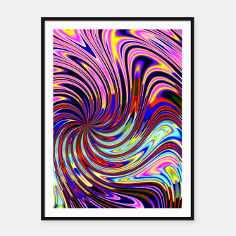 Psychedelic Swirl Hallucination (LH072) Framed poster thumbnail image