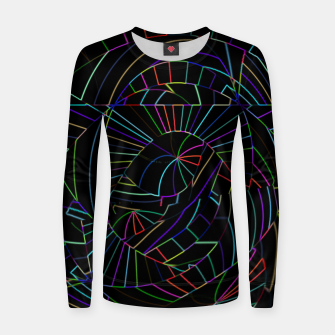Imagen en miniatura de Dark Black Abstract Neon Lines (LH005) Women sweater, Live Heroes
