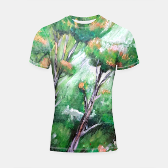 Thumbnail image of Moment in the forest Shortsleeve rashguard, Live Heroes