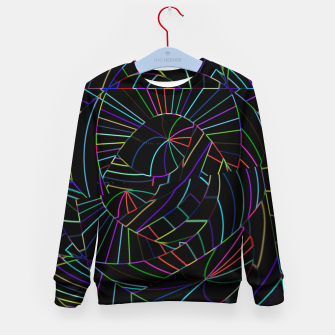Imagen en miniatura de Dark Black Abstract Neon Lines (LH005) Kid's sweater, Live Heroes