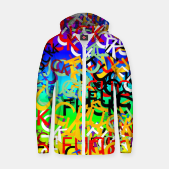 Thumbnail image of FUCK Zip up hoodie, Live Heroes