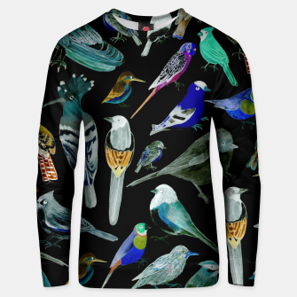 Birds of America- pets and wild birds  Unisex sweater Bild der Miniatur