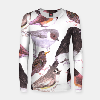 Thumbnail image of Wild birds Women sweater, Live Heroes