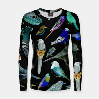 Birds of America- pets and wild birds  Women sweater Bild der Miniatur