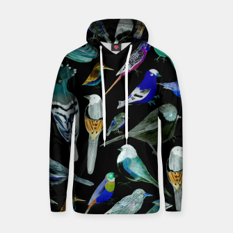 Birds of America- pets and wild birds  Hoodie Bild der Miniatur