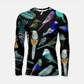 Thumbnail image of Birds of America- pets and wild birds  Longsleeve rashguard , Live Heroes