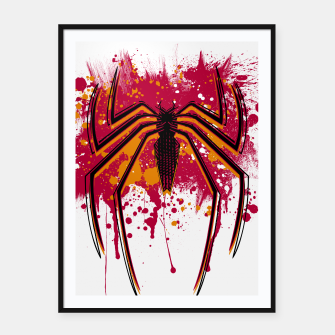Thumbnail image of Spider hero Framed poster, Live Heroes