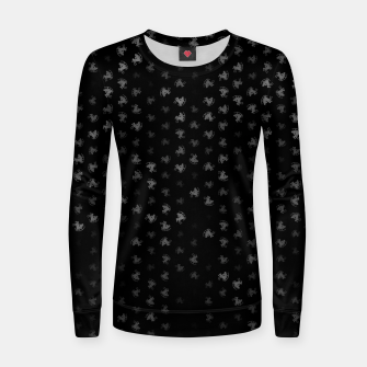 Thumbnail image of sagittarius zodiac sign pattern bw Women sweater, Live Heroes