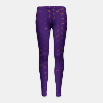 Thumbnail image of scorpio zodiac sign pattern po Girl's leggings, Live Heroes