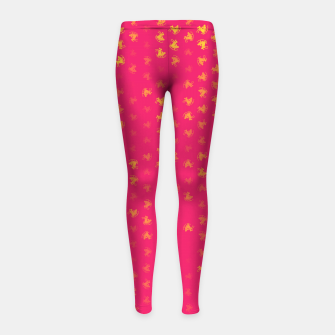 Thumbnail image of sagittarius zodiac sign pattern py Girl's leggings, Live Heroes