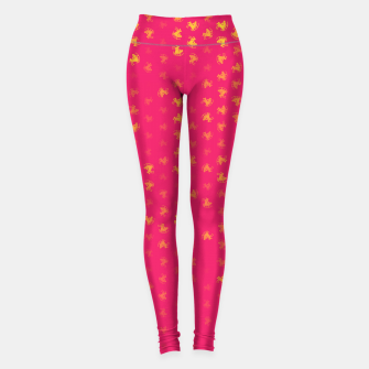 Thumbnail image of sagittarius zodiac sign pattern py Leggings, Live Heroes