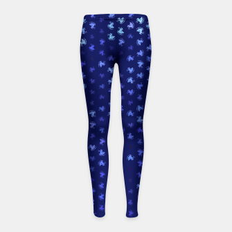 Thumbnail image of sagittarius zodiac sign pattern std Girl's leggings, Live Heroes