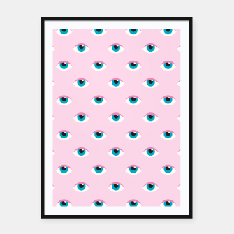 Imagen en miniatura de Girly Eyes Pattern Framed poster, Live Heroes
