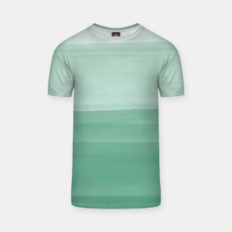 Thumbnail image of Touching Green Watercolor Abstract #1 #painting #decor #art T-Shirt, Live Heroes