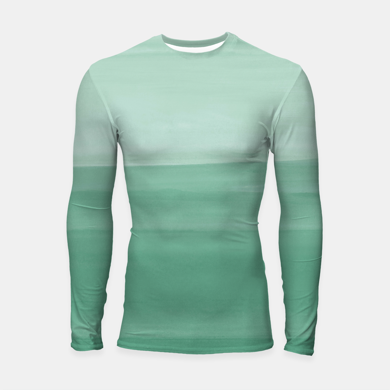 Zdjęcie Touching Green Watercolor Abstract #1 #painting #decor #art Longsleeve rashguard - Live Heroes