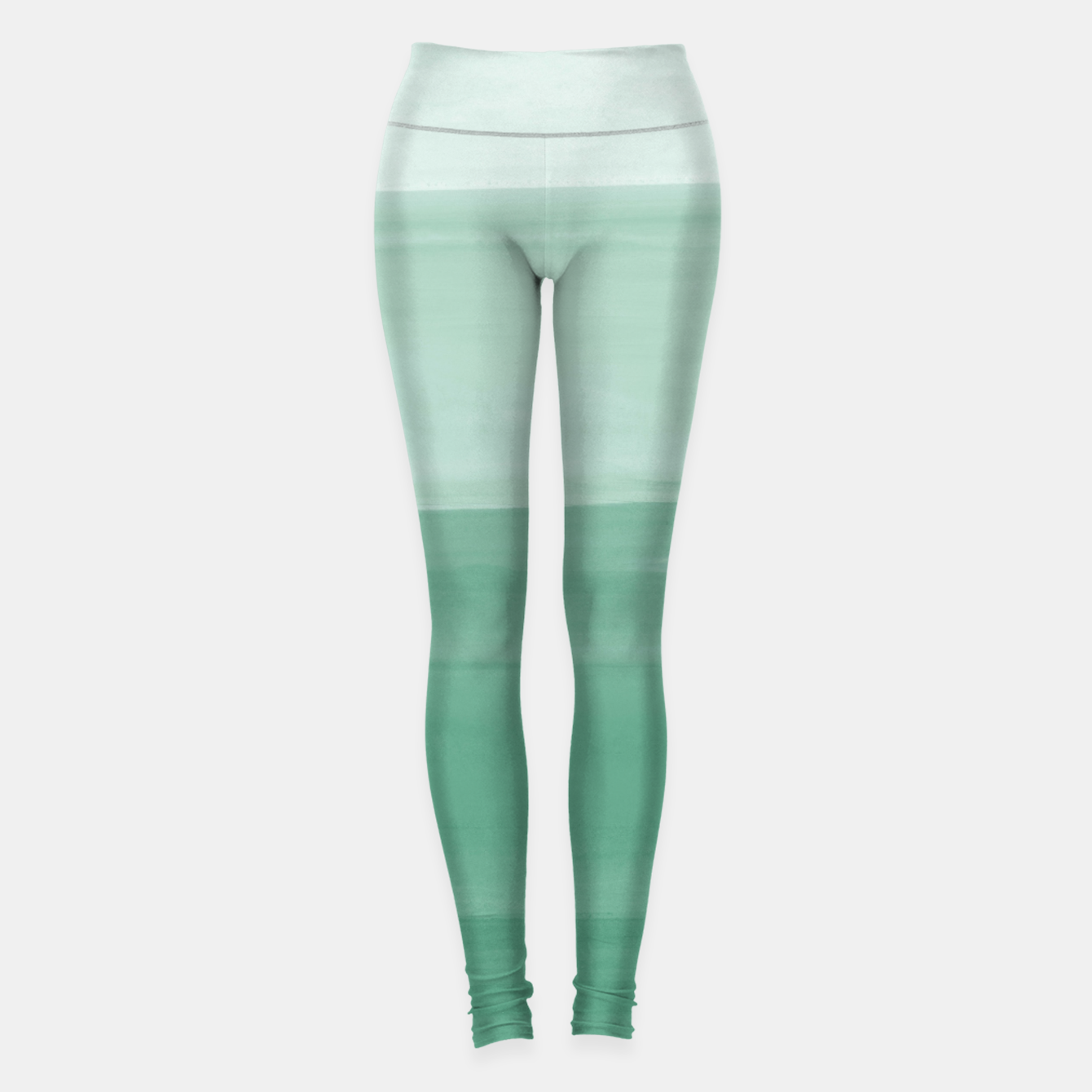 Zdjęcie Touching Green Watercolor Abstract #1 #painting #decor #art Leggings - Live Heroes