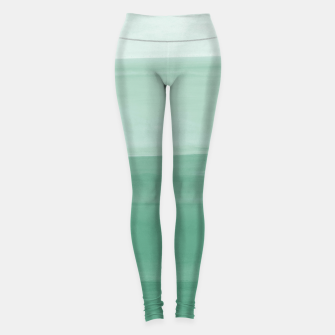 Thumbnail image of Touching Green Watercolor Abstract #1 #painting #decor #art Leggings, Live Heroes