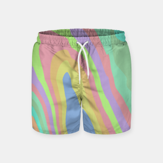 Thumbnail image of Pastel Rainbow Marble (LH075) Swim Shorts, Live Heroes