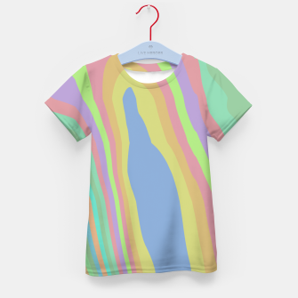 Thumbnail image of Pastel Rainbow Marble (LH075) Kid's t-shirt, Live Heroes