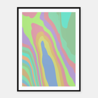 Thumbnail image of Pastel Rainbow Marble (LH075) Framed poster, Live Heroes