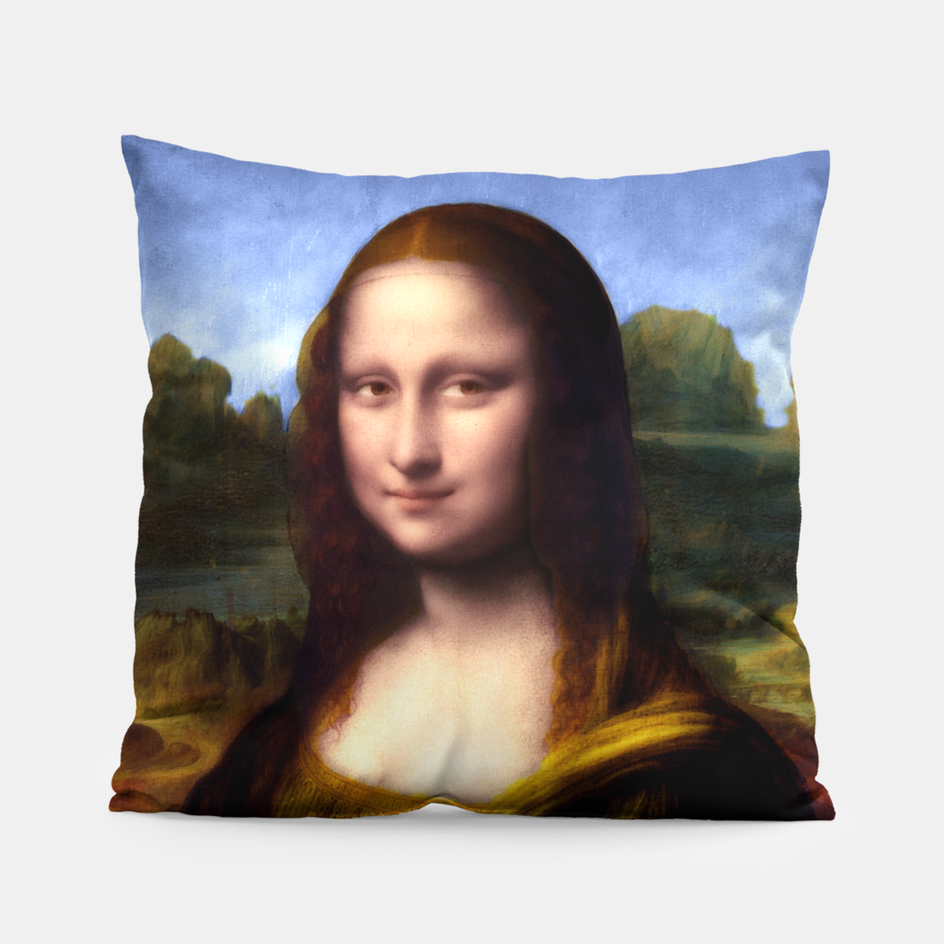 Image of Mona Lisa by Leonardo da Vinci Pillow - Live Heroes