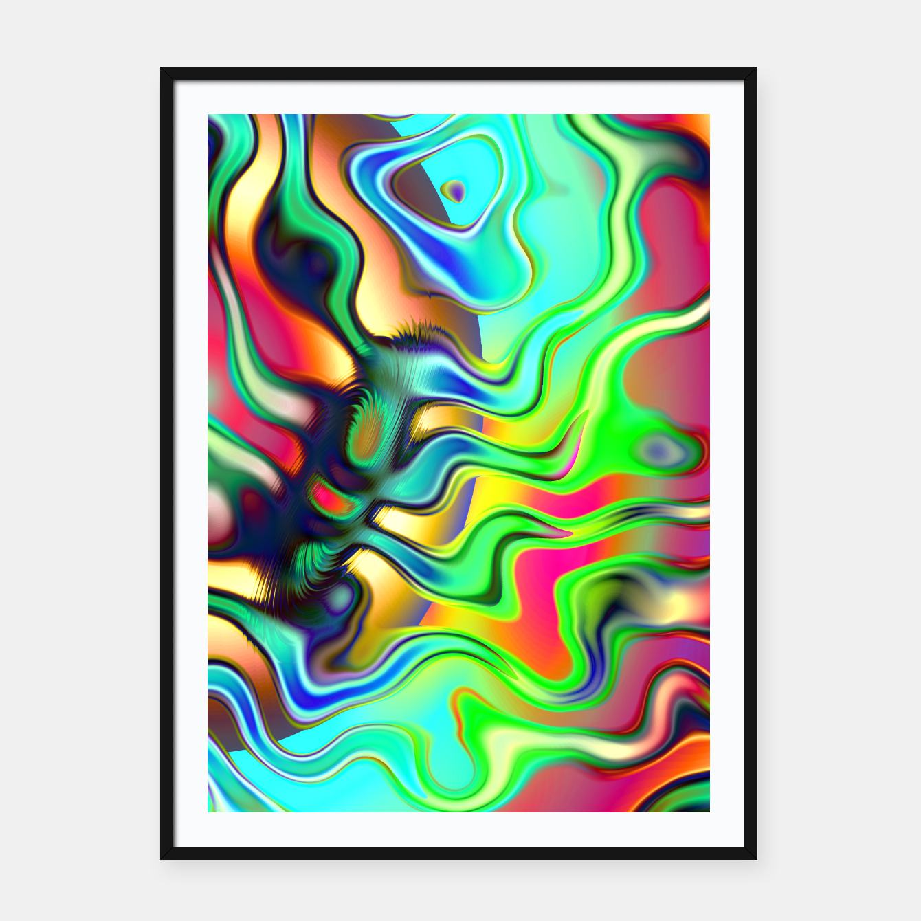 Image of Blurry Vision Ripples (LH080) Framed poster - Live Heroes