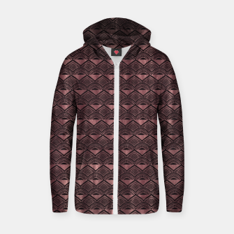 Thumbnail image of Pattern Design  Zip up hoodie, Live Heroes