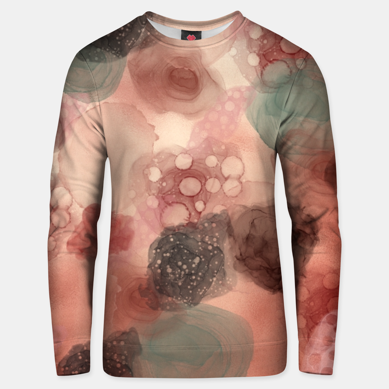 Image of Multicolor Abstract  Unisex sweater - Live Heroes