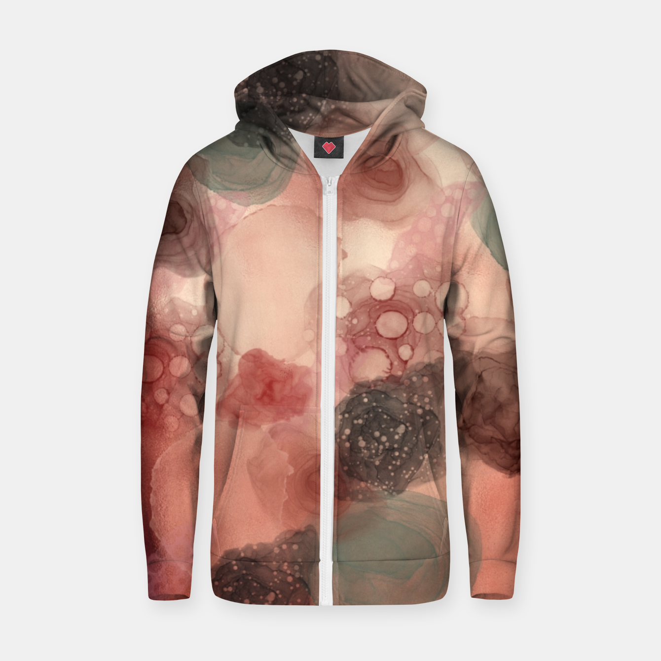 Image of Multicolor Abstract  Zip up hoodie - Live Heroes