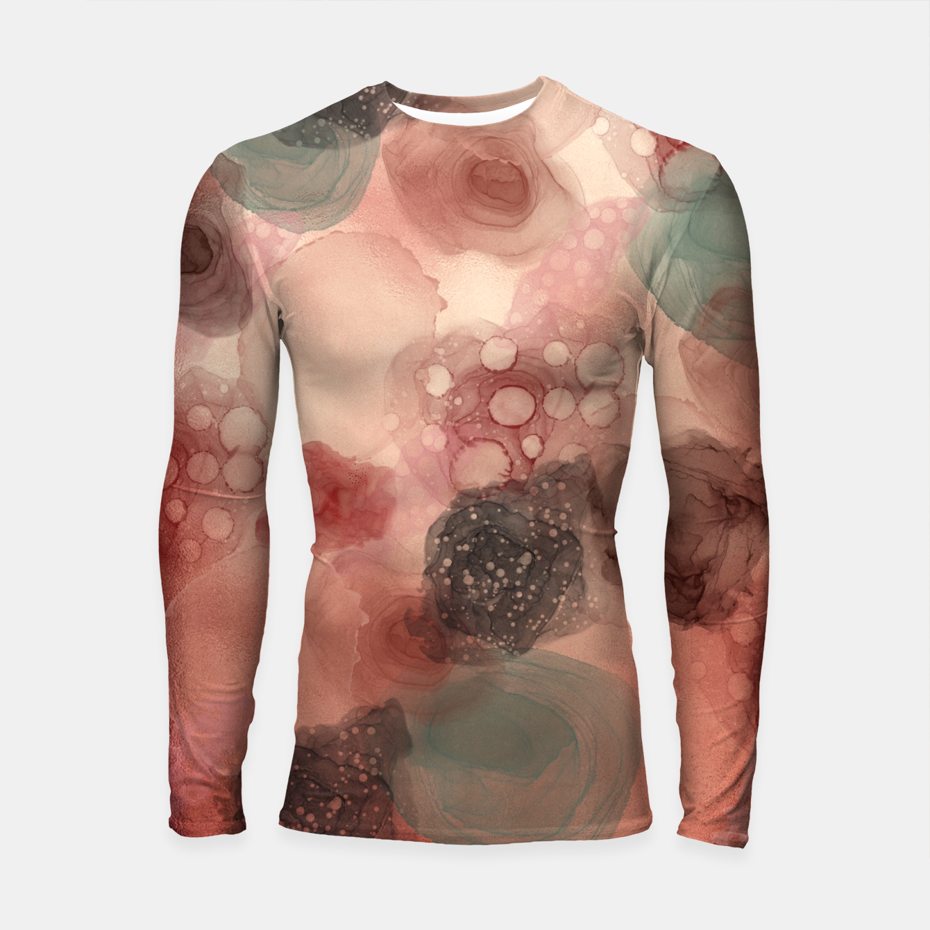 Image of Multicolor Abstract  Longsleeve rashguard  - Live Heroes