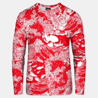Miniatur Red waves Unisex sweater, Live Heroes