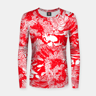 Miniatur Red waves Women sweater, Live Heroes