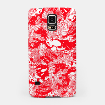 Miniatur Red waves Samsung Case, Live Heroes