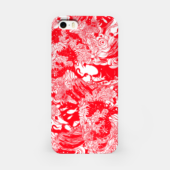 Miniatur Red waves iPhone Case, Live Heroes