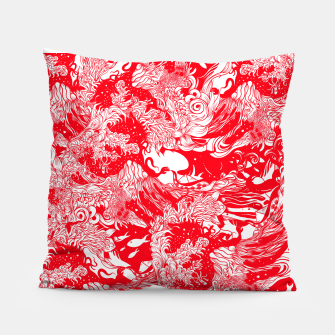 Miniatur Red waves Pillow, Live Heroes