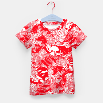 Miniatur Red waves Kid's t-shirt, Live Heroes