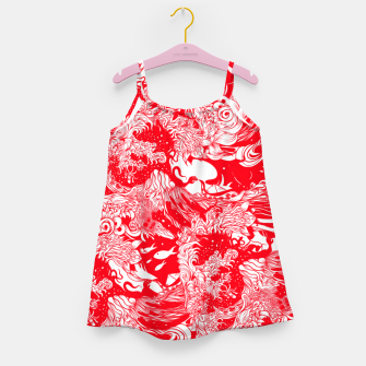Miniatur Red waves Girl's dress, Live Heroes