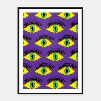 Thumbnail image of Creepy Eyes Framed poster, Live Heroes