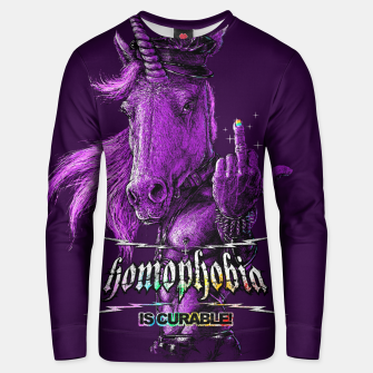 Thumbnail image of GAY KIDNEY Unisex sweater, Live Heroes