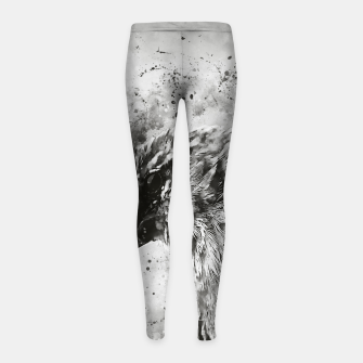 Thumbnail image of spotted madagascar fody wsbw Girl's leggings, Live Heroes